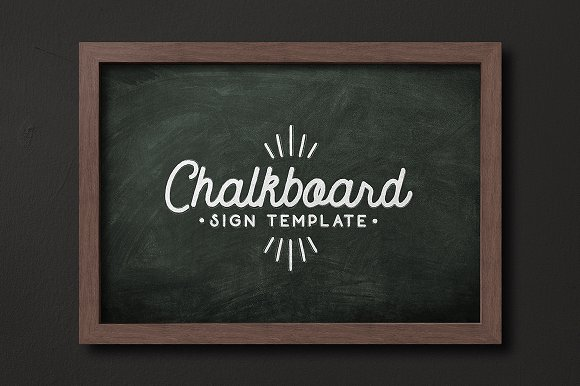 Chalkboard Sign Template