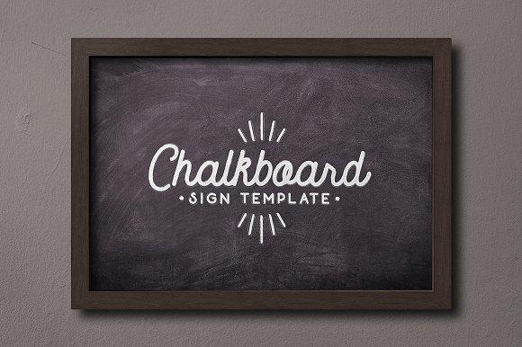 chalkboard sign template product mockups creative market