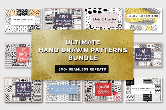 Ultimate Hand Drawn Patterns Bundle
