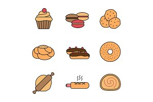 Bakery color icon