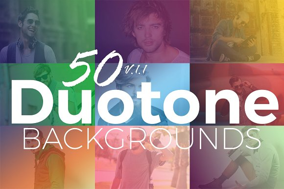 50 Duotone Backgrounds And Overlays