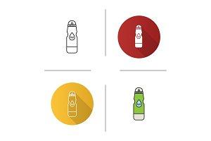 Sports water bottle icon