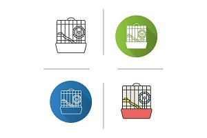 Hamster cage icon
