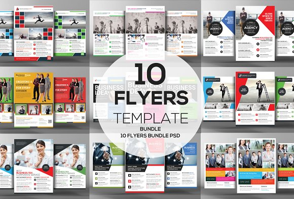 10 Creative Business Flyers Bundle