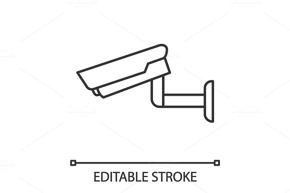 Surveillance Camera Linear Icon