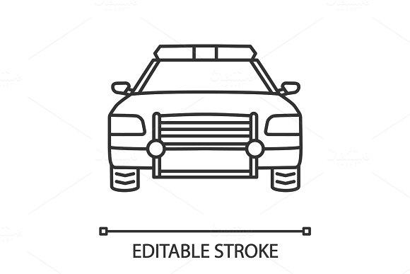 Police Car Linear Icon
