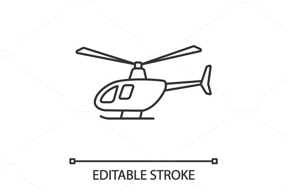 Helicopter Linear Icon