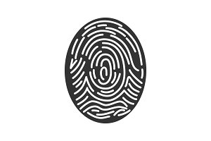 Fingerprint glyph icon