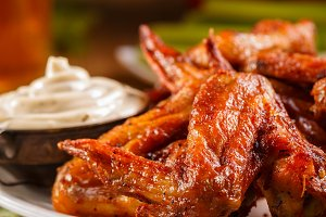 Roasted wings