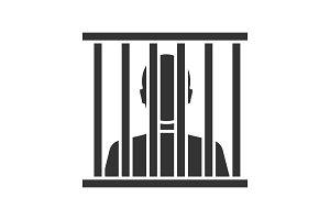 Prisoner glyph icon
