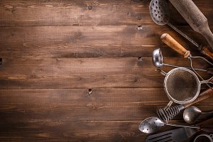 Vintage kitchen items.