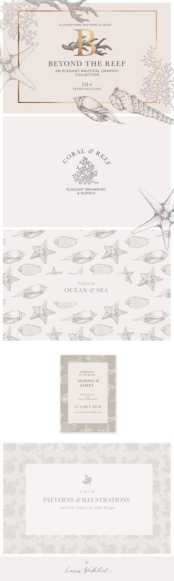 Coral Beach Maritime Illustrations