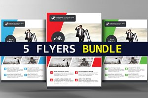 5 Creative Corporate Flyers Bundle