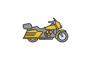 Motorbike color icon