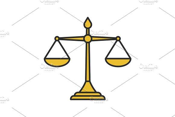 Justice Scales Color Icon