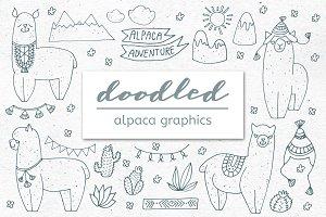 Doodled Alpaca Graphics