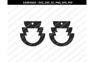 Earrings svg, dxf, png, pdf, ai, eps