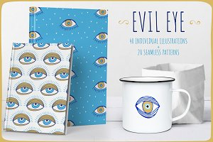 Evil Eye Illustrations + Patterns