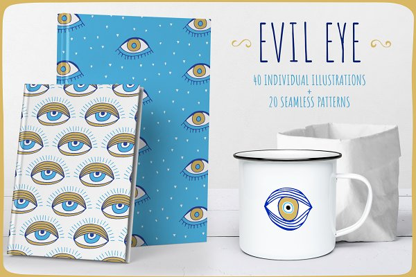 Evil Eye Illustrations + Patterns