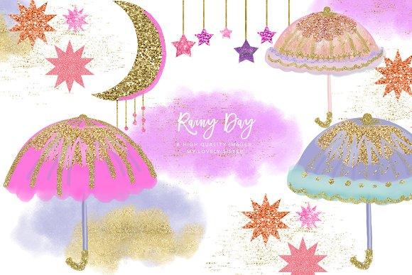 Umbrella Clipart Moon Clipart
