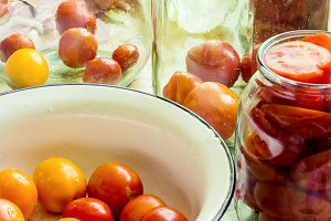 preservation of tomatoes.