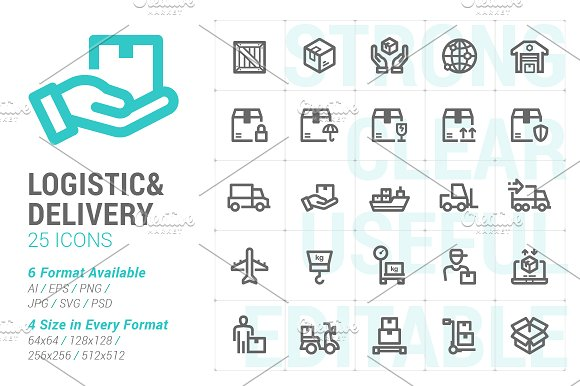 Logistic Delivery Mini Icon