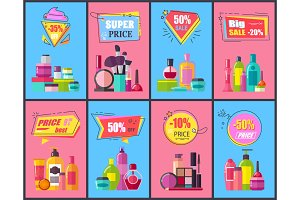 Big Sale for Decorative and Skincare Cosmetics