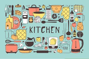 Kitchen objects + 3patterns +15sets