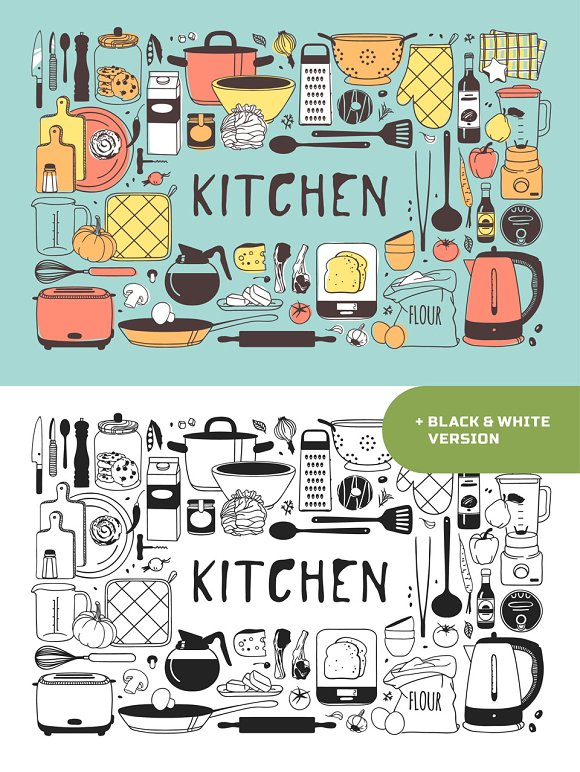 Kitchen Objects 3patterns 15sets