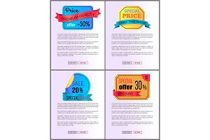 Sale Special Offer Order Buy Now Web Poster Vector
