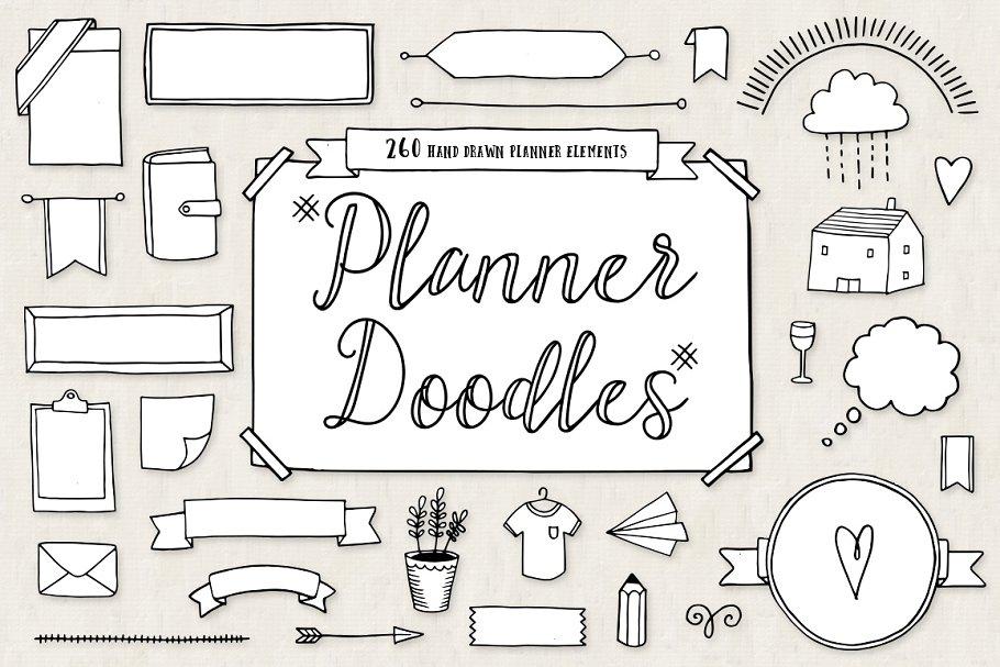 Genoeg Bullet Journal Diary Planner Doodles ~ Illustrations ~ Creative Market &GH95