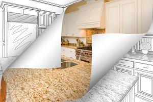 Kitchen Photo Corner Flip to Drawing