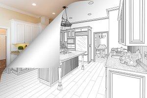 Kitchen Drawing Corner Flip to Photo