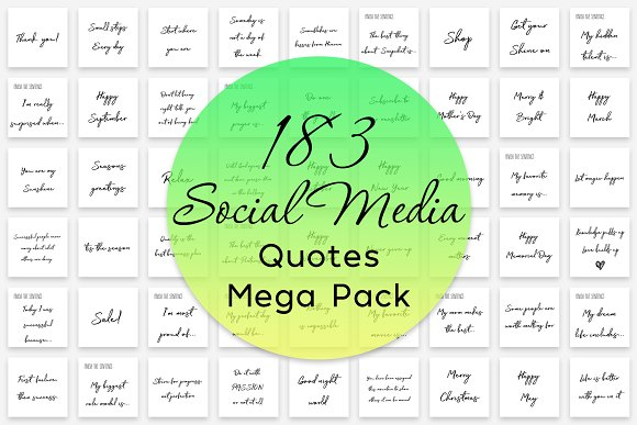 183 Social Media Quotes Mega Pack