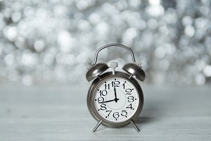 vintage iron clock alarm clock