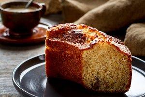 Homemade sponge cakes