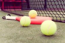 paddle balls and racket