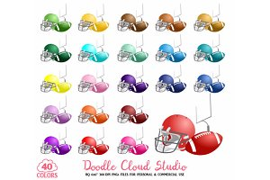 40 Colorful Football Clipart Rugby