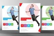Website Design Flyer With Postcard