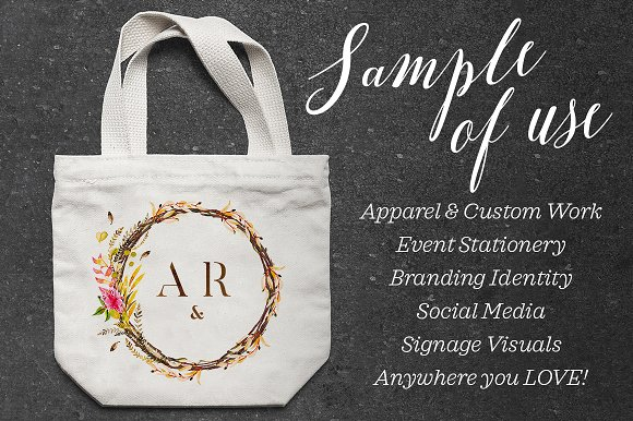 -80% BUNDLE: 72 Watercolor Monograms in Illustrations - product preview 11
