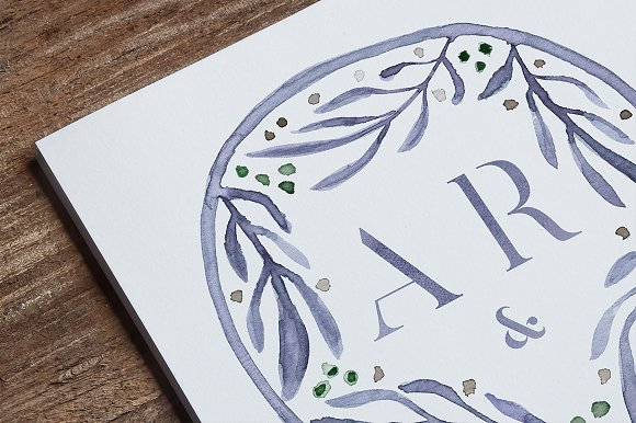 -80% BUNDLE: 72 Watercolor Monograms in Illustrations - product preview 12
