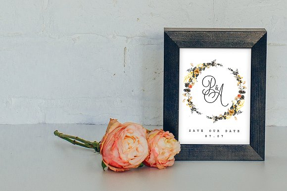 -80% BUNDLE: 72 Watercolor Monograms in Illustrations - product preview 15