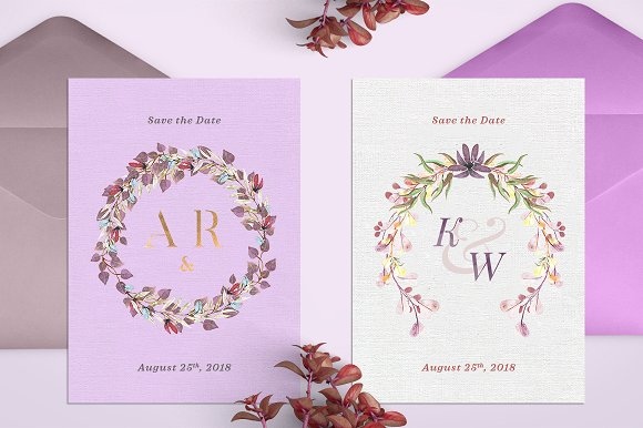 -80% BUNDLE: 72 Watercolor Monograms in Illustrations - product preview 13