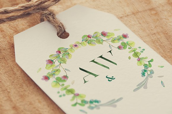 -80% BUNDLE: 72 Watercolor Monograms in Illustrations - product preview 17
