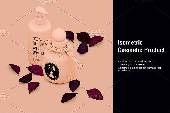Isometric Cosmetic Product Mock-up