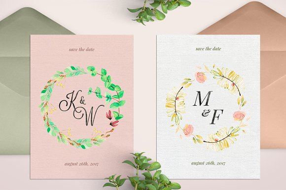 -80% BUNDLE: 72 Watercolor Monograms in Illustrations - product preview 18