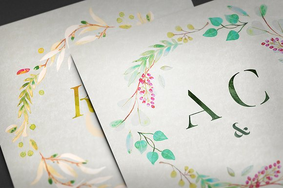 -80% BUNDLE: 72 Watercolor Monograms in Illustrations - product preview 20