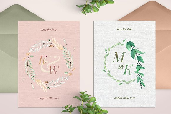 -80% BUNDLE: 72 Watercolor Monograms in Illustrations - product preview 21