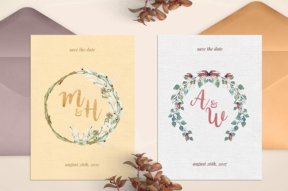 -80% BUNDLE: 72 Watercolor Monograms in Illustrations - product preview 22