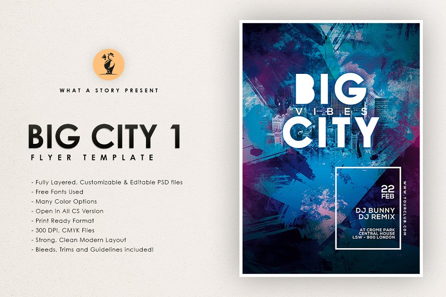 Big City 1 in Flyer Templates - product preview 8